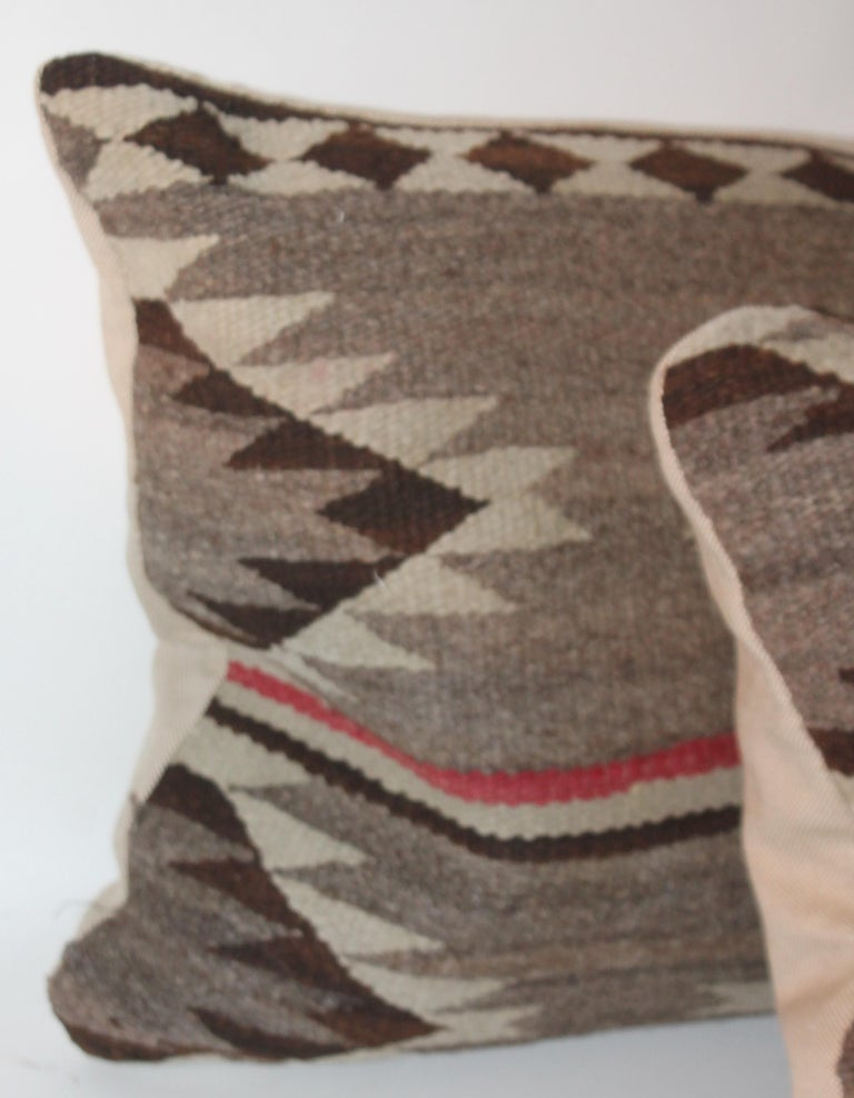 Hand-Crafted Navajo Indian Weaving Bolster Pillow For Sale