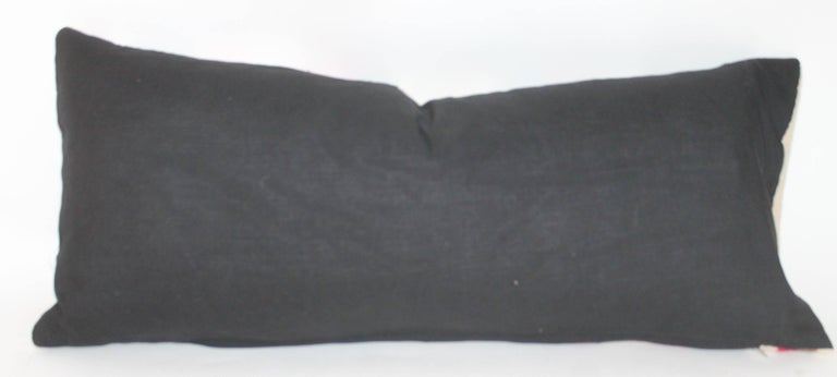 Navajo Indian Weaving Bolster Pillow In Excellent Condition For Sale In Los Angeles, CA