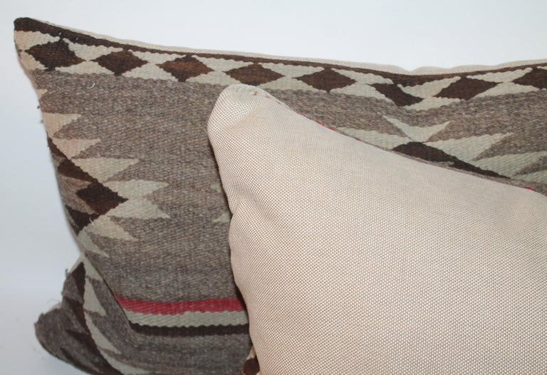 Navajo Indian Weaving Bolster Pillow In Good Condition For Sale In Los Angeles, CA