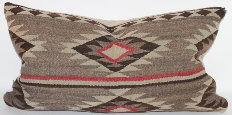Wool Navajo Indian Weaving Bolster Pillow For Sale