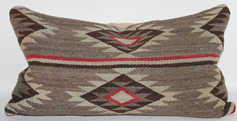 Navajo Indian Weaving Bolster Pillow For Sale 1