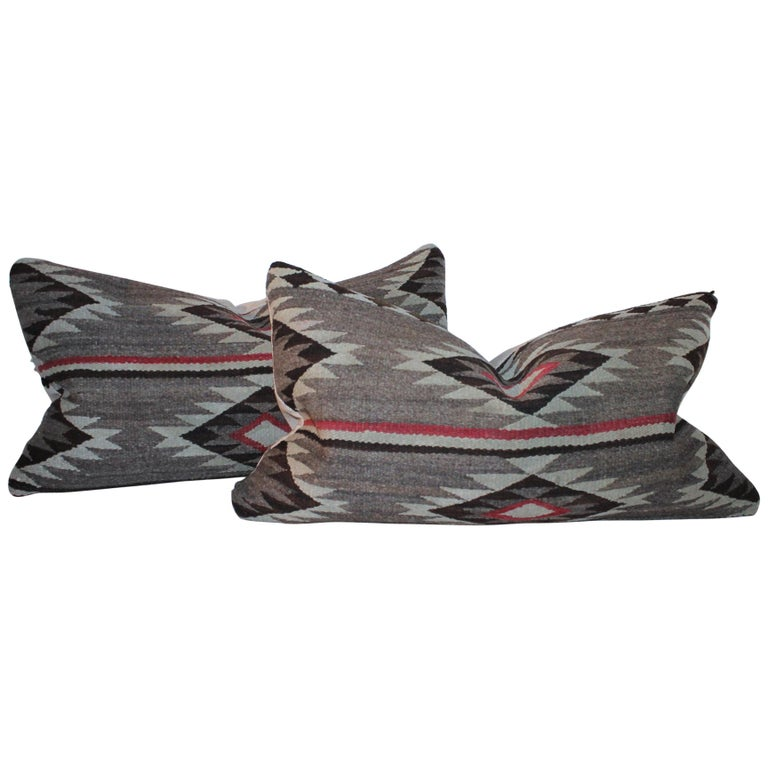 Navajo Indian Weaving Bolster Pillow For Sale