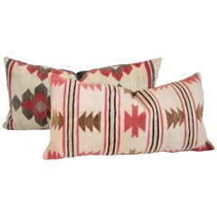 Navajo Indian Weaving Bolster Pillows, 2
