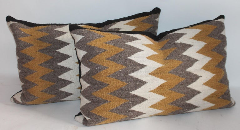 Navajo Indian Weaving Bolster Pillows / 2 Pairs In Good Condition For Sale In Los Angeles, CA