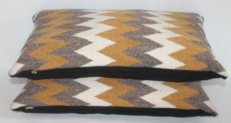 Navajo Indian Weaving Bolster Pillows / 2 Pairs For Sale 1