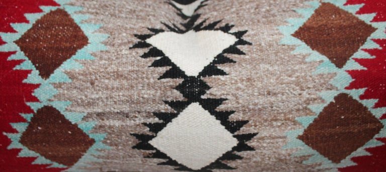 Navajo Indian Weaving Bolster Pillows In Good Condition For Sale In Los Angeles, CA