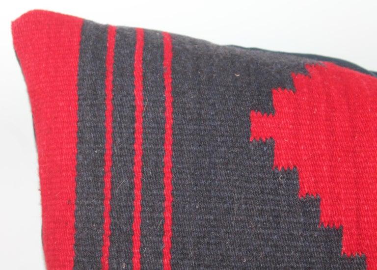 Adirondack Navajo Indian Weaving Bolster Pillows / Pair For Sale