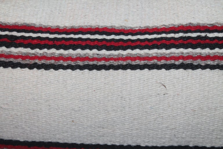 Adirondack Navajo Indian Weaving Bolster Pillows / Pairs For Sale