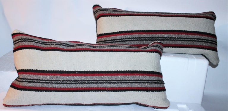 American Navajo Indian Weaving Bolster Pillows / Pairs For Sale