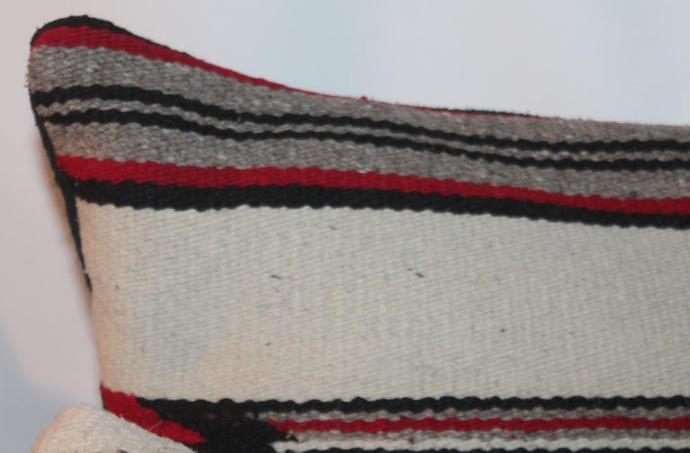 Hand-Woven Navajo Indian Weaving Bolster Pillows / Pairs For Sale