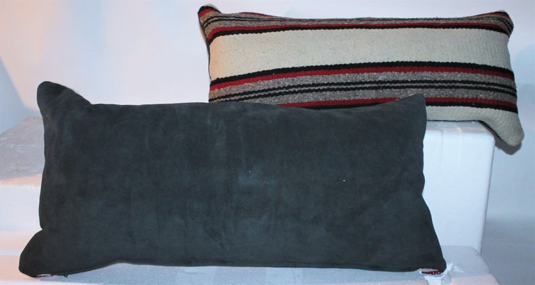 20th Century Navajo Indian Weaving Bolster Pillows / Pairs For Sale