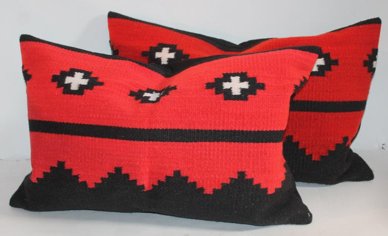 Adirondack Navajo Indian Weaving Bolster Pillows, Set of 3 For Sale