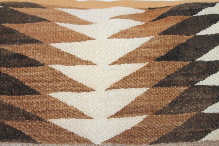 Adirondack Navajo Indian Weaving Eye Dazzler Large Pillow For Sale