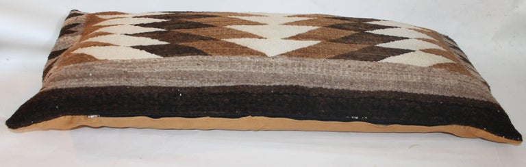 American Navajo Indian Weaving Eye Dazzler Large Pillow For Sale