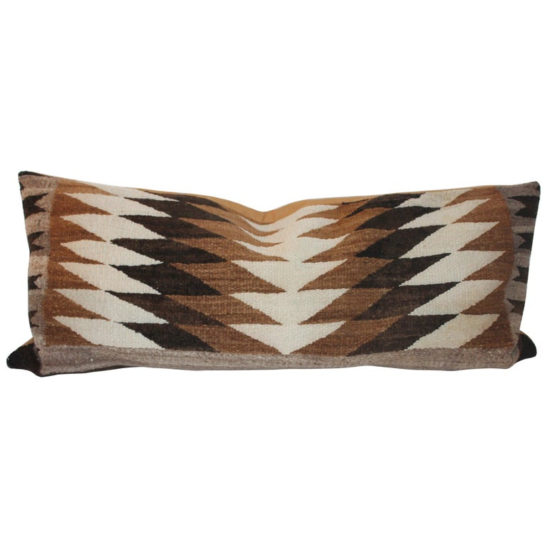 Navajo Indian Weaving Eye Dazzler Large Pillow For Sale