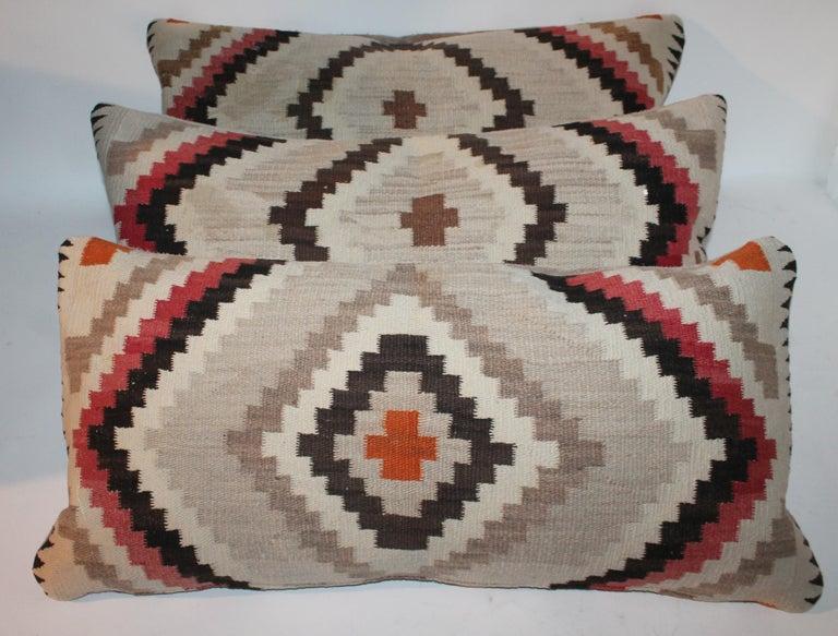 Adirondack Navajo Indian Weaving Eye Dazzler Pillows For Sale