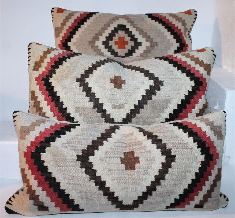 American Navajo Indian Weaving Eye Dazzler Pillows For Sale