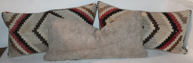 Hand-Crafted Navajo Indian Weaving Eye Dazzler Pillows For Sale
