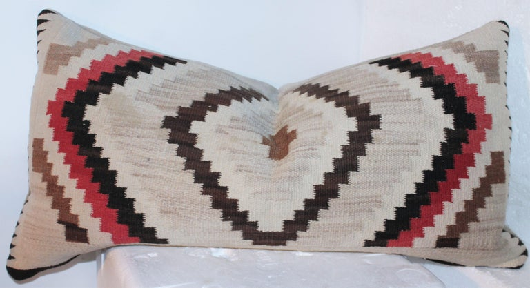 Navajo Indian Weaving Eye Dazzler Pillows In Good Condition For Sale In Los Angeles, CA