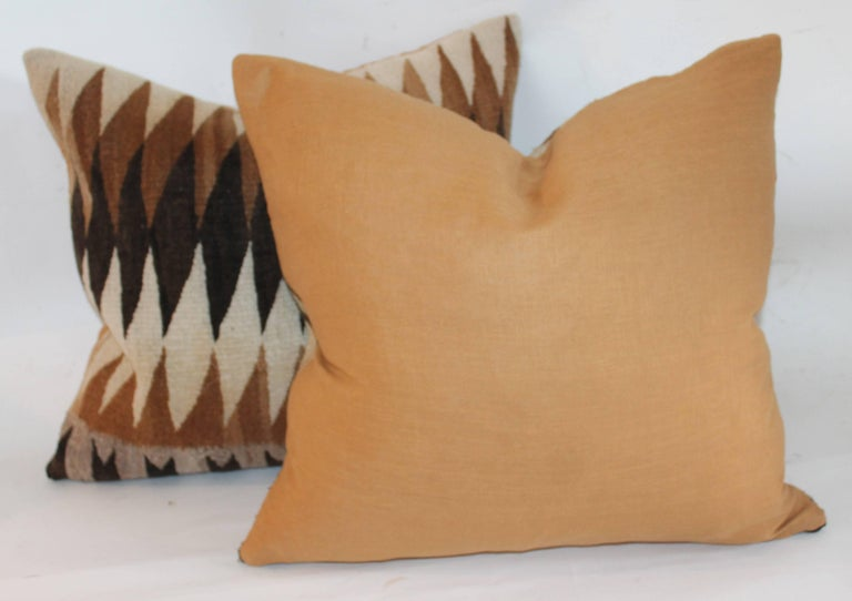 19th Century Navajo Indian Weaving Eye Dazzler Pillows For Sale