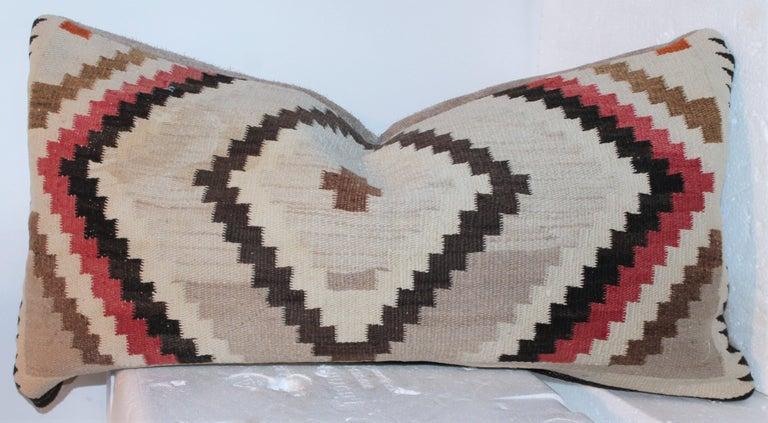 20th Century Navajo Indian Weaving Eye Dazzler Pillows For Sale