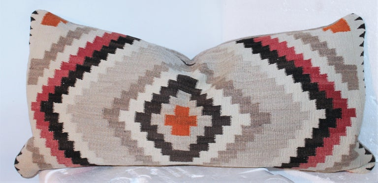 Wool Navajo Indian Weaving Eye Dazzler Pillows For Sale