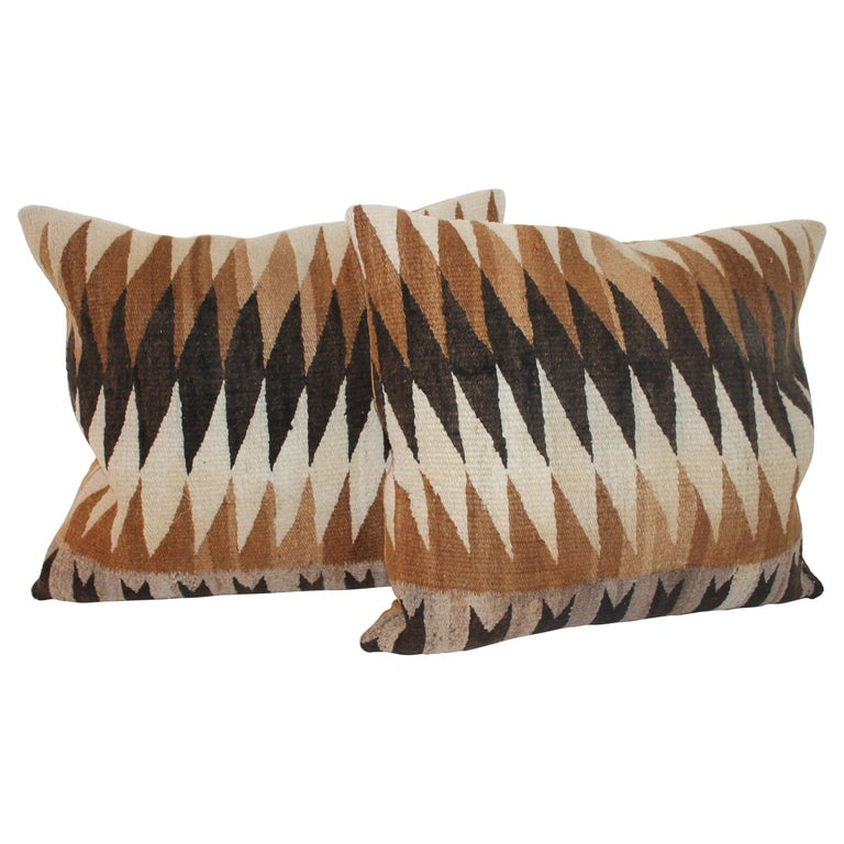 Navajo Indian Weaving Eye Dazzler Pillows For Sale