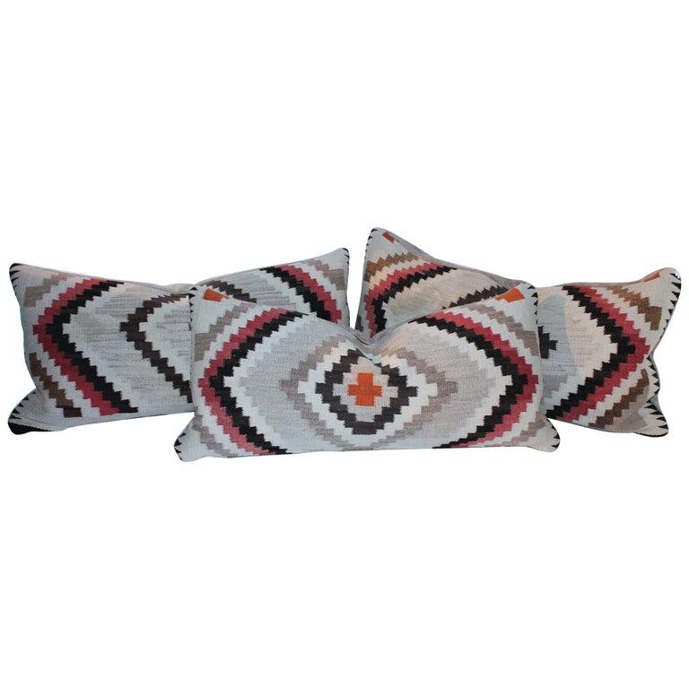 Navajo Indian Weaving Eye Dazzler Pillows For Sale