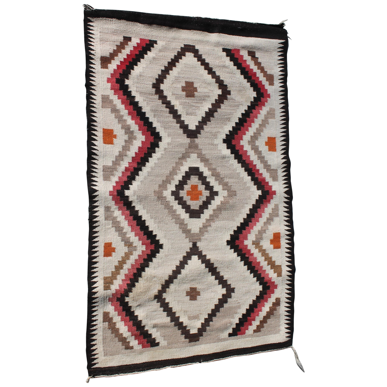 Navajo Indian Weaving Eye Dazzler Rug