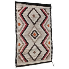 Navajo Indian Weaving Eye Dazzler Rug