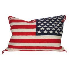Navajo Indian Weaving Flag Pillow
