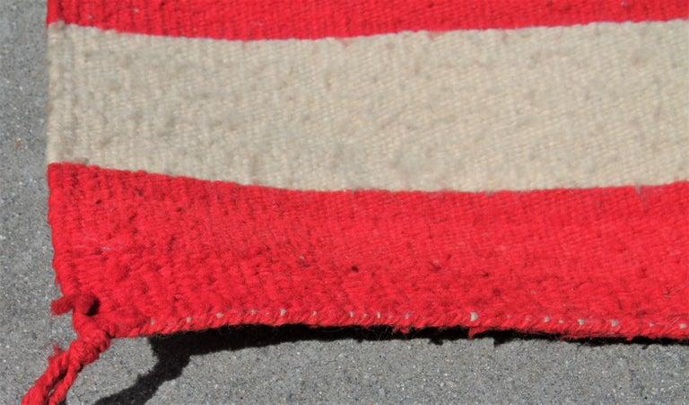 American Navajo Indian Weaving  Flag Rug, circa 1950s For Sale