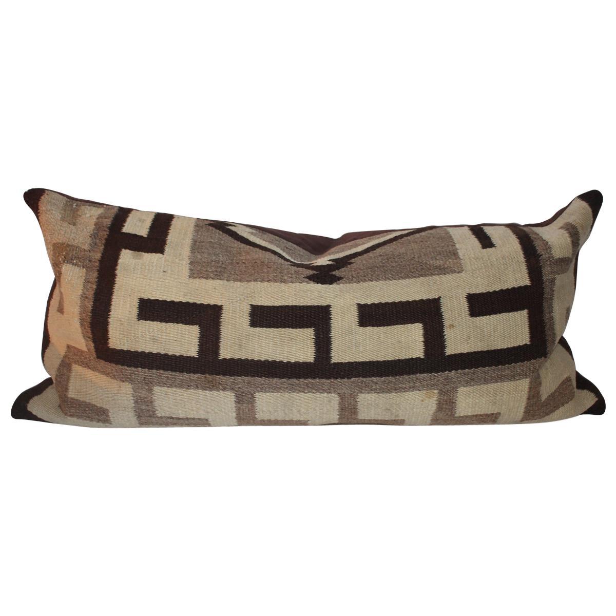 Navajo Indian Weaving Geometric Bolster Pillow