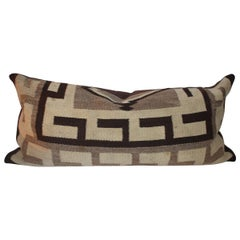 Navajo Indian Weaving Geometric Bolster Pillow