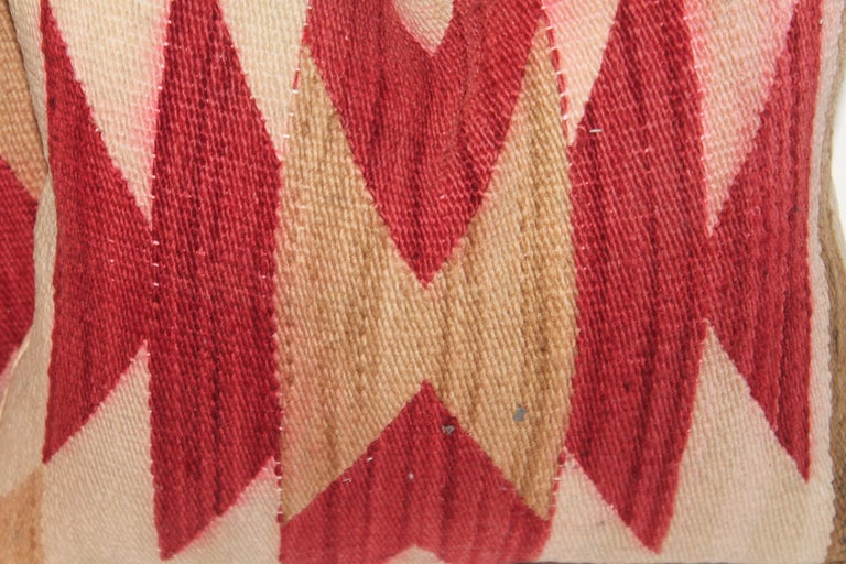 Adirondack Navajo Indian Weaving Geometric Pillows, Pair For Sale