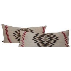 Navajo Indian Weaving Geometric, Saddle Blanket Pillows, 2