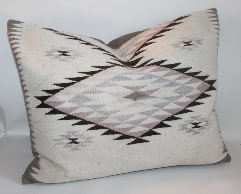 American Navajo Indian Weaving Large Pillows or Pair For Sale