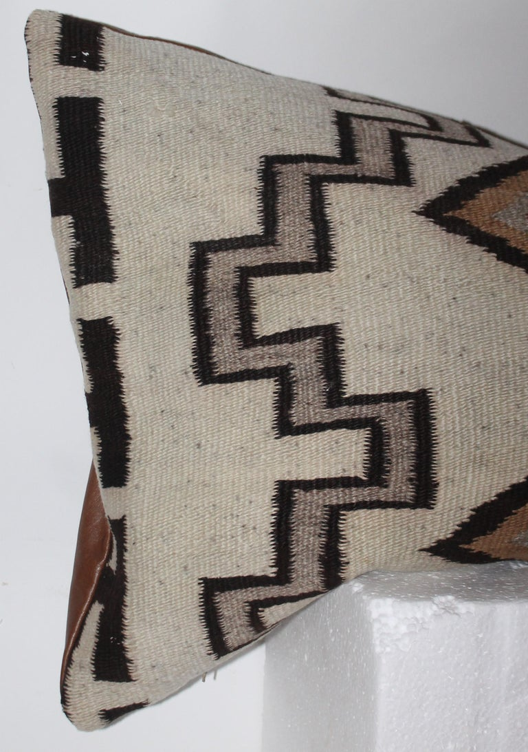 Adirondack Navajo Indian Weaving Lg. Bolster Pillow #2 For Sale