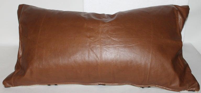 American Navajo Indian Weaving Lg. Bolster Pillow #2 For Sale