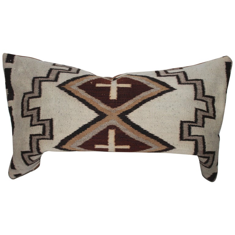 Navajo Indian Weaving Lg. Bolster Pillow #2 For Sale