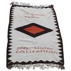 Navajo Indian Weaving Made for Luis Almada Familia in San Marino, California