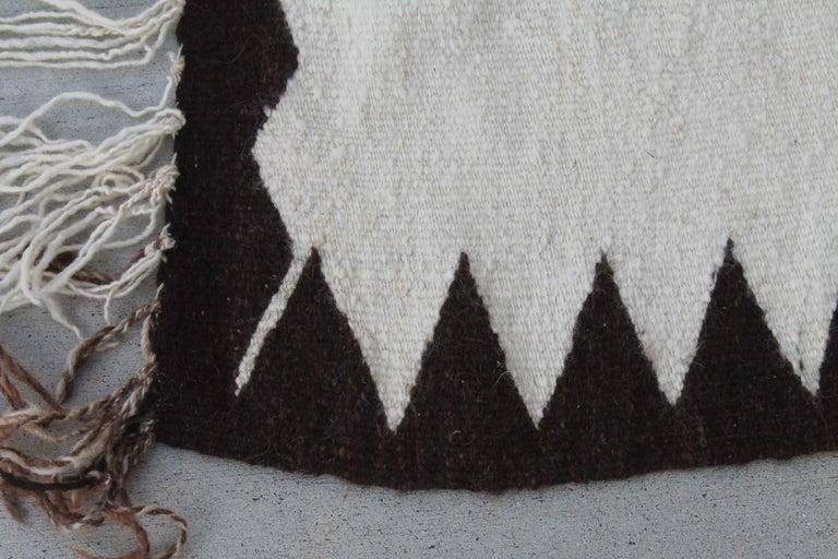American Navajo Indian Weaving Made for Luis Almada Familia in San Marino, California For Sale