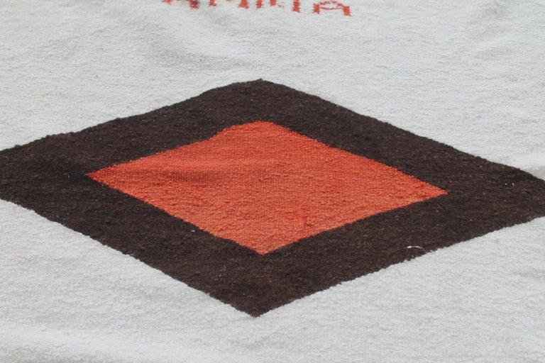 20th Century Navajo Indian Weaving Made for Luis Almada Familia in San Marino, California For Sale