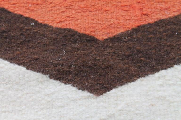 Wool Navajo Indian Weaving Made for Luis Almada Familia in San Marino, California For Sale