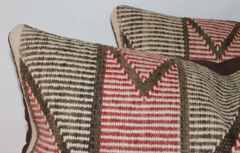 Adirondack Navajo Indian Weaving Pillows, Pair For Sale