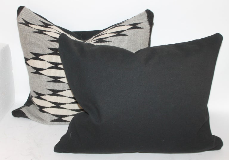 Hand-Woven Navajo Indian Weaving Pillows, Pair For Sale
