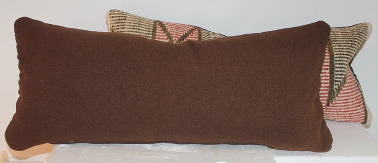 Navajo Indian Weaving Pillows, Pair In Good Condition For Sale In Los Angeles, CA