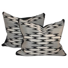 Navajo Indian Weaving Pillows, Pair
