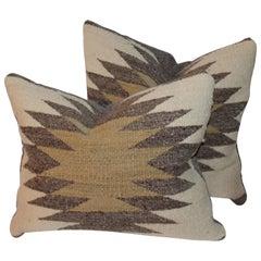 Navajo Indian Weaving Pillows, Pair