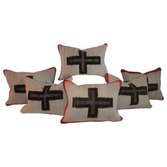 Navajo Indian Weaving Pillows with Crosses